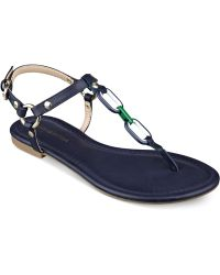 Tommy Hilfiger Shelley Flat Thong Sandals - Lyst