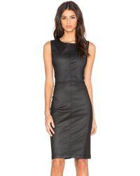 Level 99 - Coated-Denim Mini Dress  - Lyst
