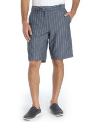 Howe Blue and White Cotton Reversible Switchstance Horizontal Stripe Shorts - Lyst