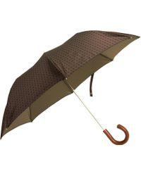 Barneys New York - Square Pattern Umbrella - Lyst