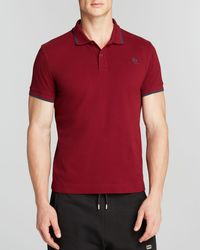 McQ by Alexander McQueen Short Sleeve Polo Shirt - Lyst
