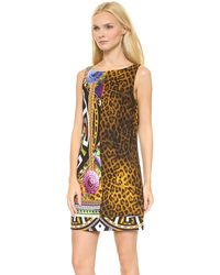 Versace Printed Dress Multi - Lyst