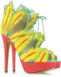 Charlotte Olympia Cherokee Sunshine Yellow Platform Sandal - Lyst
