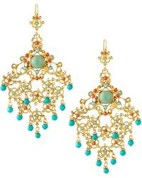 Jose & Maria Barrera Filigree Chandelier Drop Earrings gold - Lyst