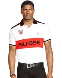 Polo Ralph Lauren Custom-fit Snow Polo Suisse Mesh Shirt - Lyst