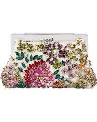 Dolce & Gabbana Sara Lace Beaded Swarovski Clutch - Lyst