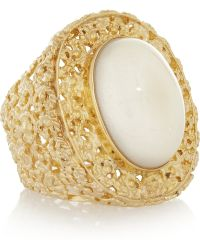 Isharya - Goldplated Resin Ring - Lyst