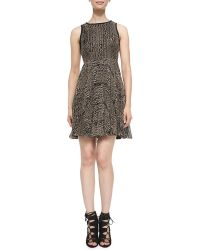 Nanette Lepore Pleated Embroidered Dress - Lyst