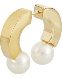 Chloé Darcey Gold-tone Swarovski Pearl Earring - Lyst