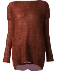Ilaria Nistri Red Knit Sweater - Lyst