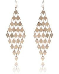 River Island | Gold Tone Embellished Dangly Earrings | Lyst