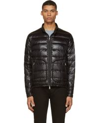 Moncler Black Quilted Down Acorus Jacket - Lyst