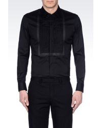 Emporio Armani Tuxedo Shirt with Pleated Plastron - Lyst