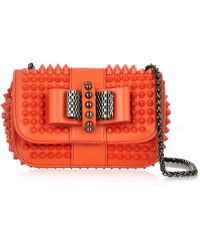 Christian Louboutin Sweety Charity Spiked Leather Shoulder Bag - Lyst