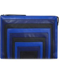 Karen Millen Block Colour Striped Clutch Bag Bluemulti blue - Lyst