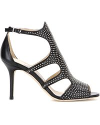 Jimmy Choo Tendor Studded Leather Sandals - Lyst