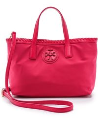 Tory Burch Marion Nylon Small Tote - Carnation Red - Lyst
