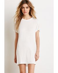 Forever 21 Longline Cutout-Back Top - Lyst