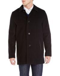 Cole Haan Wool Top Coat - Lyst