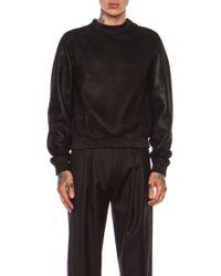 Calvin Klein Mens Flint Shearling Sweatshirt - Lyst