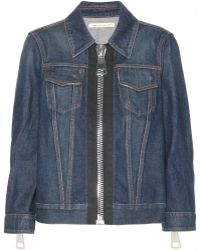Christopher Kane Blue Denim Jacket - Lyst