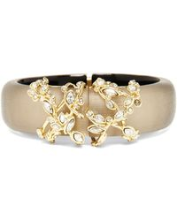 Alexis Bittar Lucite Crystal Lace Hinge Bangle - Lyst