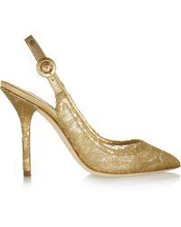 Dolce & Gabbana Lace Slingback Pumps - Lyst