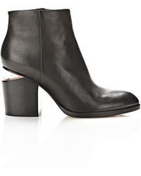 Alexander Wang Gabi Bootie with Rose Gold - Lyst