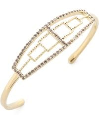 Elizabeth And James Kota Cuff Bracelet - Goldwhite Topaz - Lyst