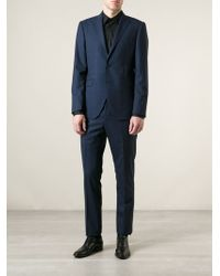 Etro Blue Checked Suit - Lyst