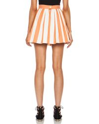 Maison Kitsuné Stripe Cotton Skater Skirt - Lyst
