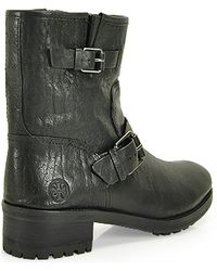 Tory Burch Chrystie  Leather Bootie - Lyst