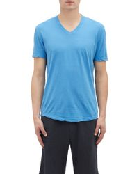 James Perse Basic V-neck T-shirt - Lyst