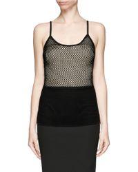 Lanvin Knit Mesh Camisole black - Lyst