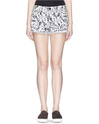 J Brand 'Cut Off' Abstract Print Fray Shorts - Lyst