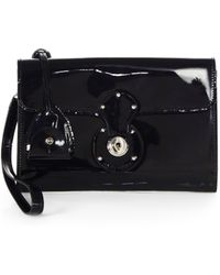 Ralph Lauren Collection Ricky Patent Leather Clutch - Lyst