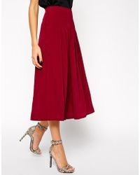Asos Woven Long Line Culottes - Lyst