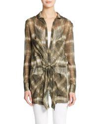 Haute Hippie His Girl Friday Plaid Silk Jacket - Lyst