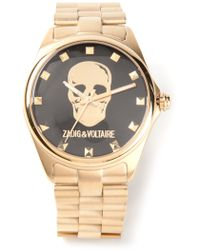 Zadig & Voltaire Skull Detail Watch - Lyst