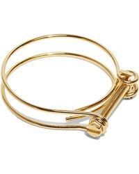 Ribeyron - Unisex Looped Screw Bracelet In Gold - Lyst