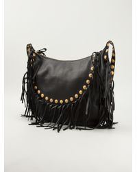 Valentino Fringed Shoulder Bag - Lyst