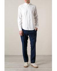 Mr Start White Button Down Shirt - Lyst