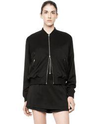 Alexander Wang Silk Bomber Jacket black - Lyst