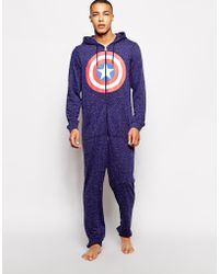 Asos Oneise with Captain America Print - Lyst