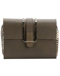Chloé Anchry Grey Leather 'Bronte' Small Shoulder Bag - Lyst