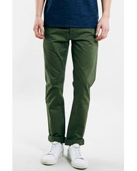 Topman 'Ltd Core Collection' Slim Tapered Chinos green - Lyst