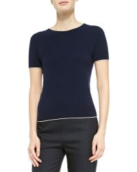 The Row Cashmere Short-sleeve Sweater - Lyst