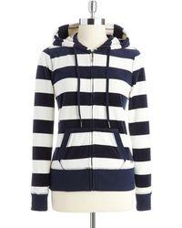 Calvin Klein Velour Striped Hoodie - Lyst