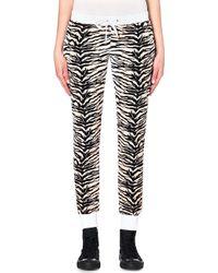 Juicy Couture Amazon Tiger Print Velour Jogging Bottoms Nat Amazon Tiger - Lyst