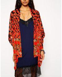 Asos Poppy Print Kimono - Lyst
